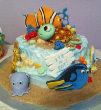 Finding Nemo Baby Shower Cake - CakeCentral.com