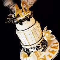 Black and Gold Masquerade Cakes | Dress images