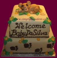 Simba Lion King Baby Shower Cake - CakeCentral.com