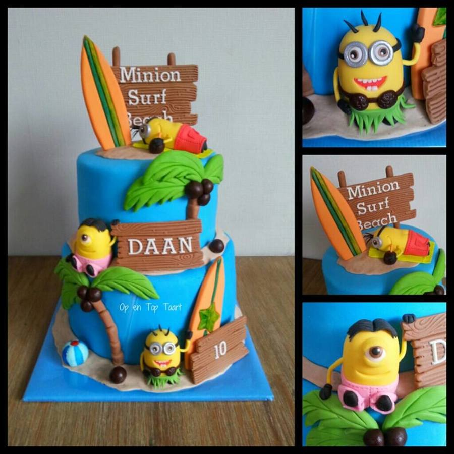 Minion Taart Minions On The Beach Cake Cakecentral