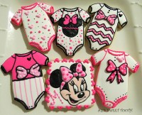 Minnie Mouse Baby Shower Cookies - CakeCentral.com