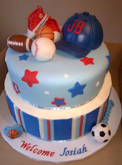 Medium Of Boy Baby Shower Cakes