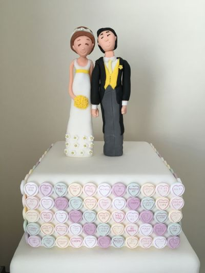Love Heart Sweets Wedding Cake - CakeCentral.com
