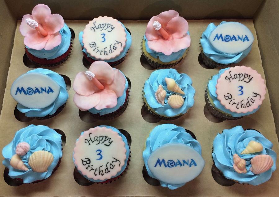 Moana Birthday Cupcakes - CakeCentral