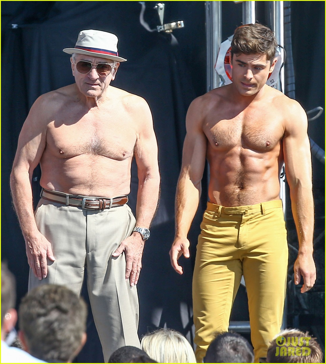 Bad Guy Set It Off Zac Efron 39s Shirtless Flex Off Stunt Photos Are Too