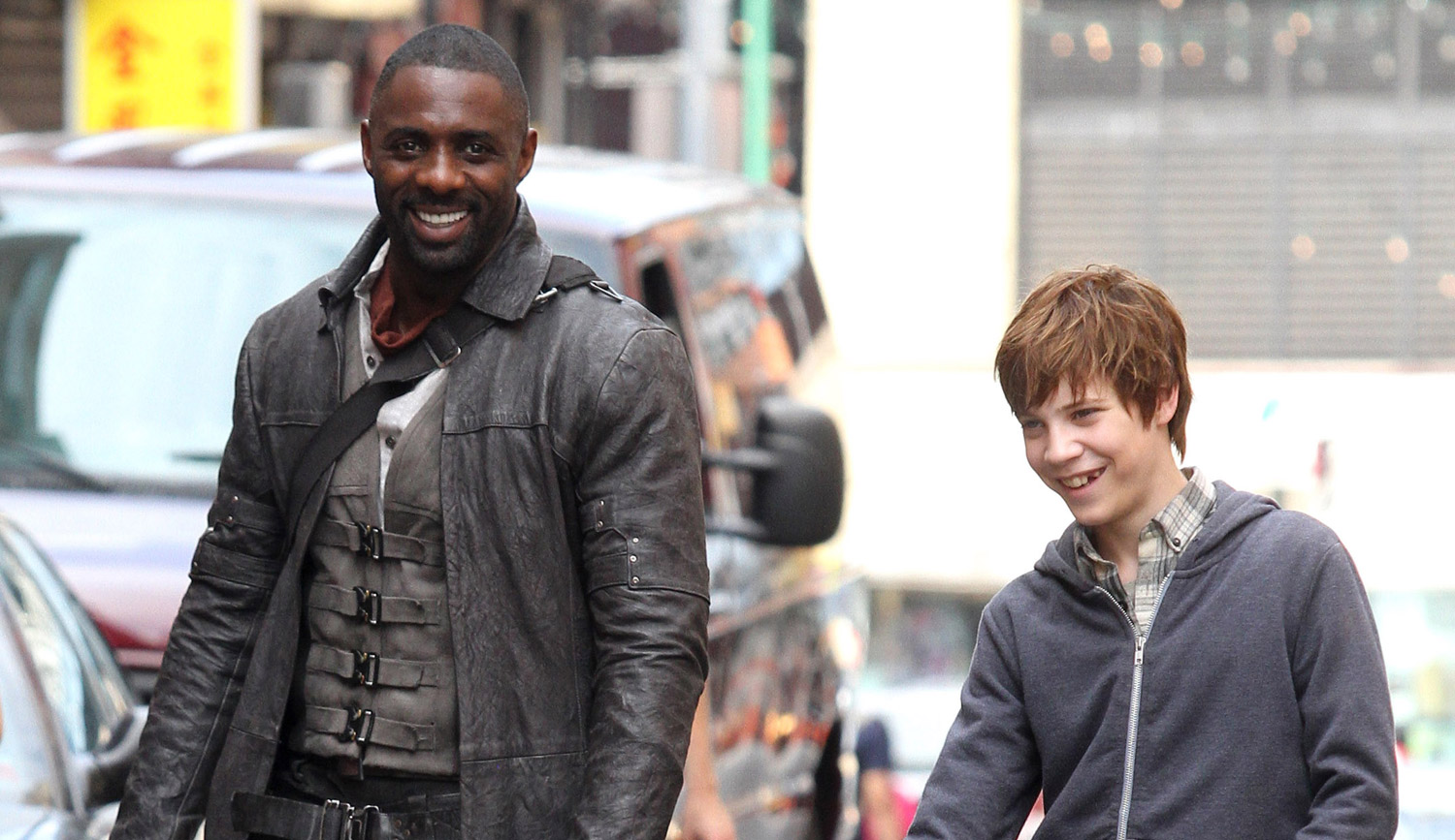 Tom Taolor Idris Elba Films Dark Tower Scenes With Tom Taylor As
