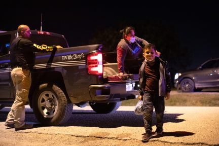 Migrants turned themselves in to Customs and Border Protection officials to be processed in hopes of applying for asylum near La Joya, Texas, on August 7, 2021. (Kaylee Greenlee - Daily Caller News Foundation)