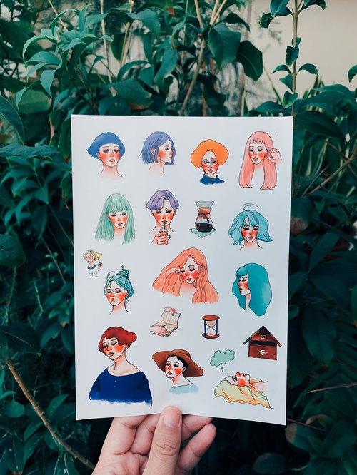 La Dolce Vita 2016 Diary stickers 17 Designs - Designer La Dolce - diary design