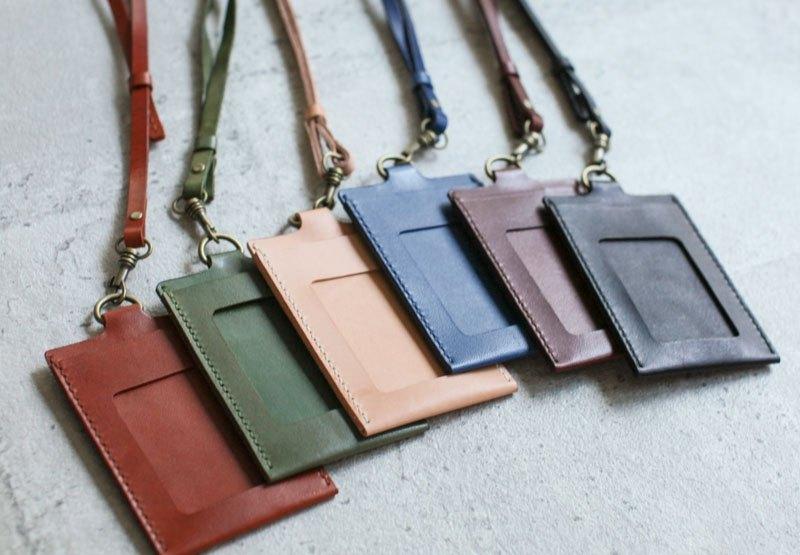 Handmade Leather Id Card Case Holder Badge Holder