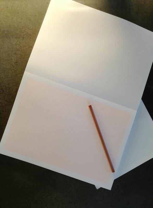 BLOC A4 horizontal graph paper Orange gridlines paragraph