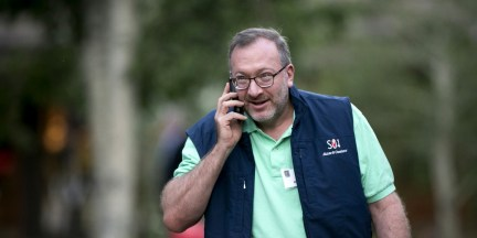 Seth Klarman, founder of the Baupost Group LLC, talks on the phone while arriving to a morning session during the Allen & Co. Media and Technology Conference in Sun Valley, Idaho, U.S., on Thursday, July 10, 2014. Technology companies from Silicon Valley are expected to take center stage at this year's Allen & Co.'s Sun Valley conference as tech and media converge. Photographer: Scott Eells/Bloomberg via Getty Images