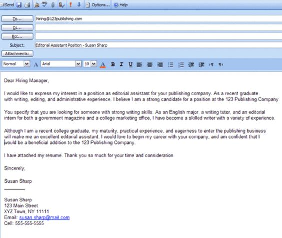 How To Write An Email That Will Get You That Job You\u0027re Applying For - Email For Job Application With Resume