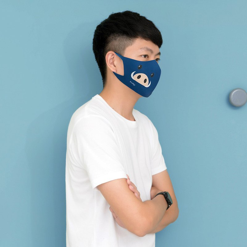 Steady Blue Pig-S/M-Zoo-3D Stereo Breathing Mask - Designer prodigy