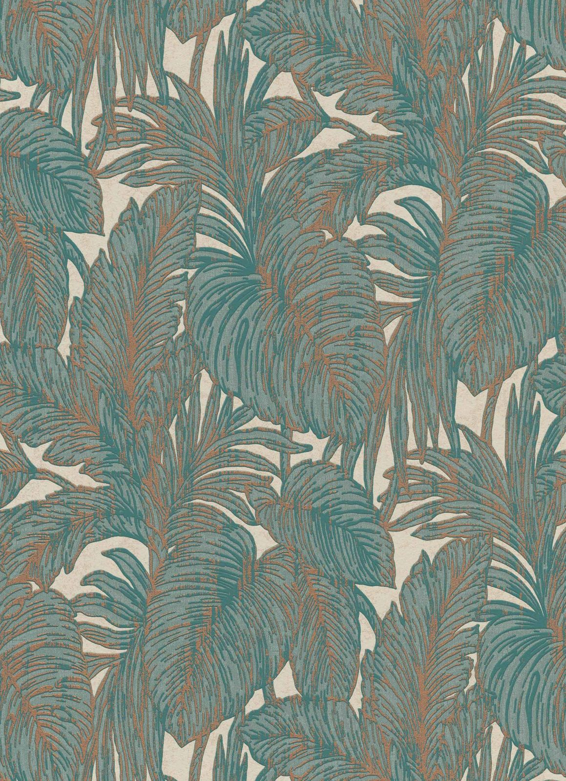 Tapete Jungle Wallpaper Floral Jungle Turquoise Copper Erismann 5410 19