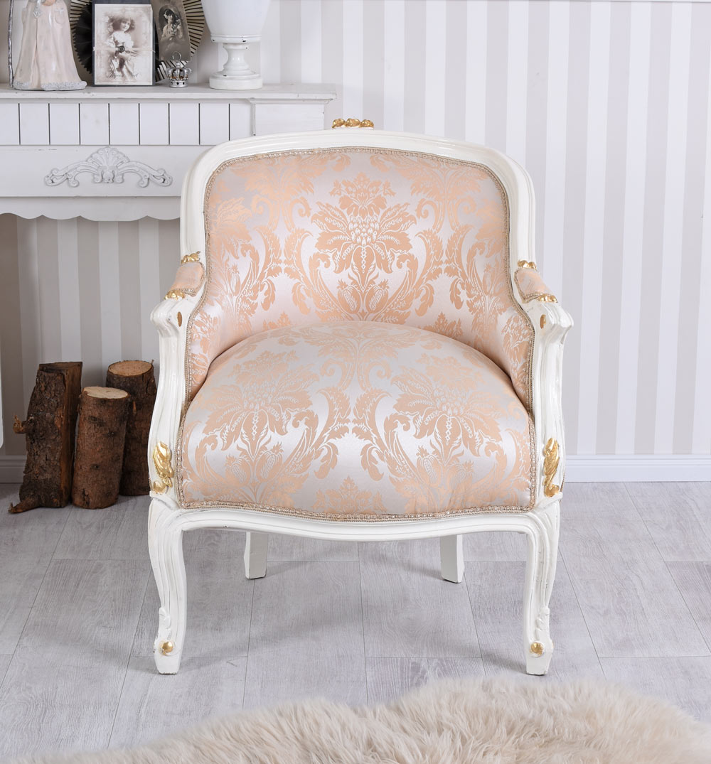 Sessel Shabby Chic Details Zu Barock Sessel Frankreich Shabby Chic Bergere Sitzbank Creme Weiss Baroque Chair