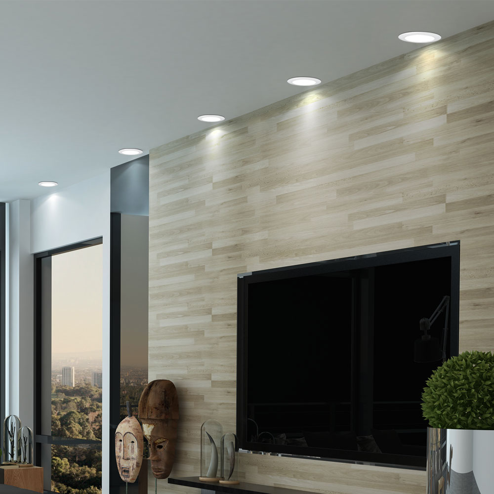 Led Panel Badezimmer Set Of 6 Led Panels Of Alu In White For Ceiling And Wall Mounting