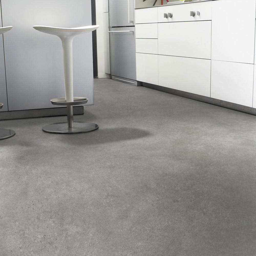 Pvc Bodenbelag 300 Cm Breit Pvc Boden Tarkett Essentials 240 Rock Grey Black 2m