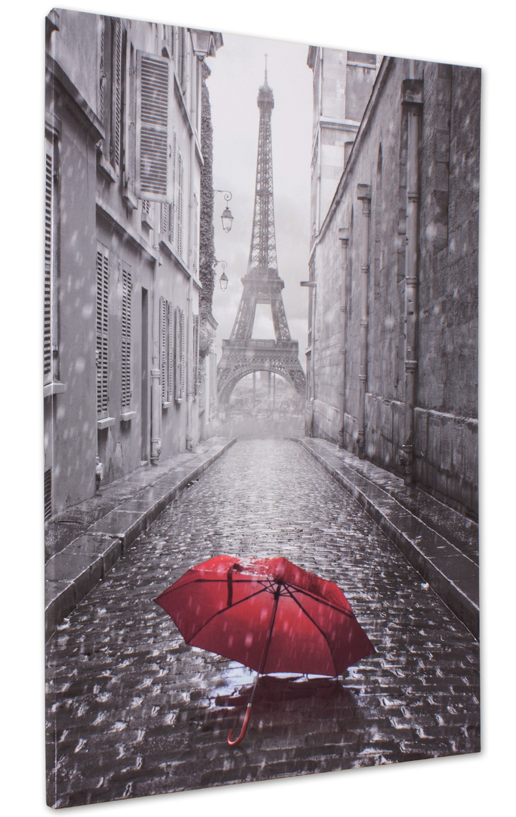 Picture Canvas Paris Eiffeltower Black White 60x90cm