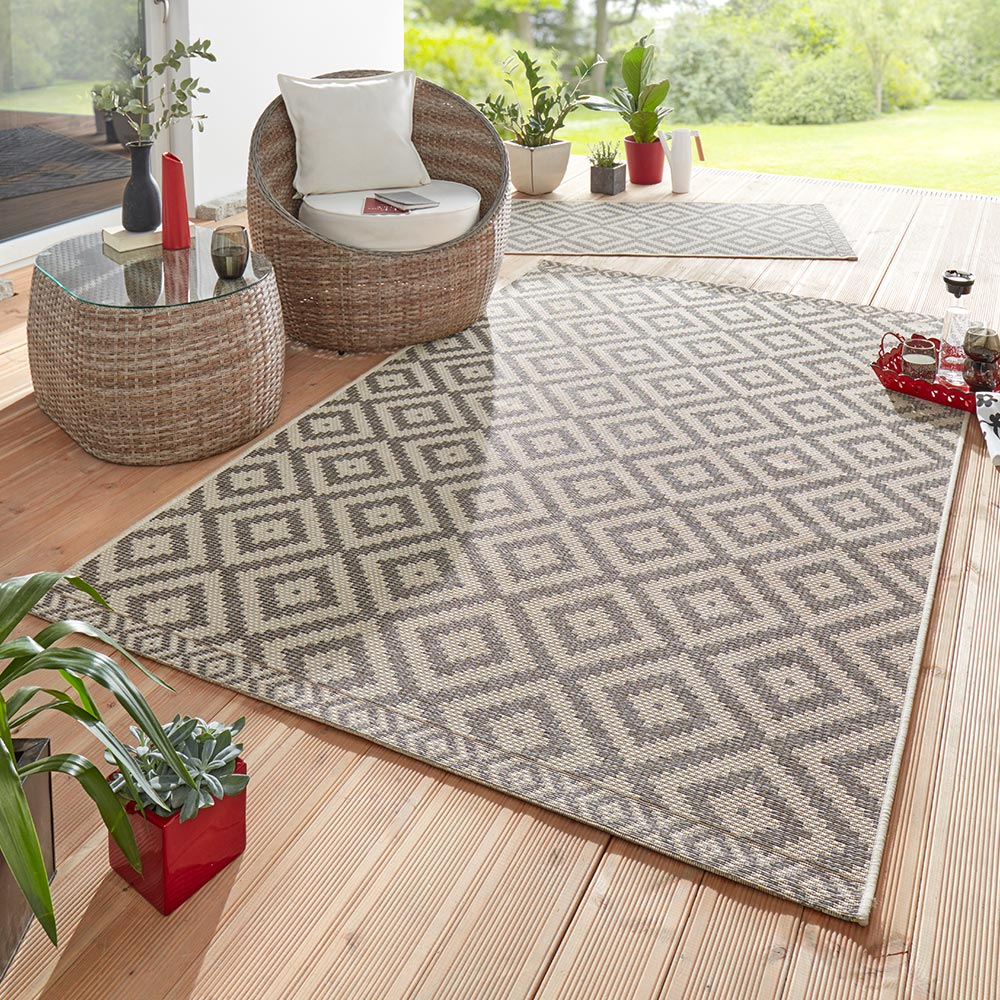 Outdoor Teppich Sale Design Outdoorteppich Summer Taupe Grau