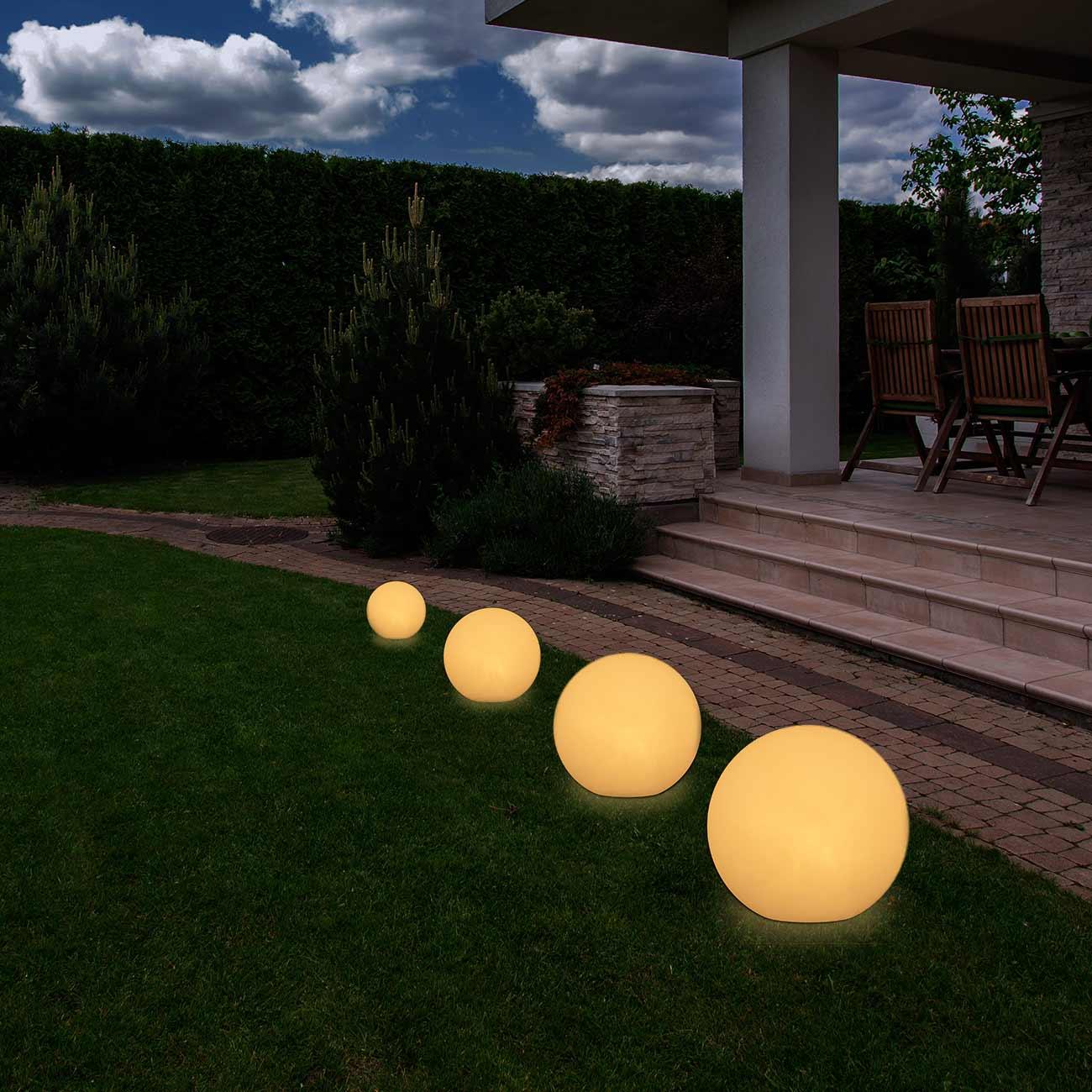 Eclairage Exterieur Jardin Boule   Lampe Boule Exterieur Jardin ...