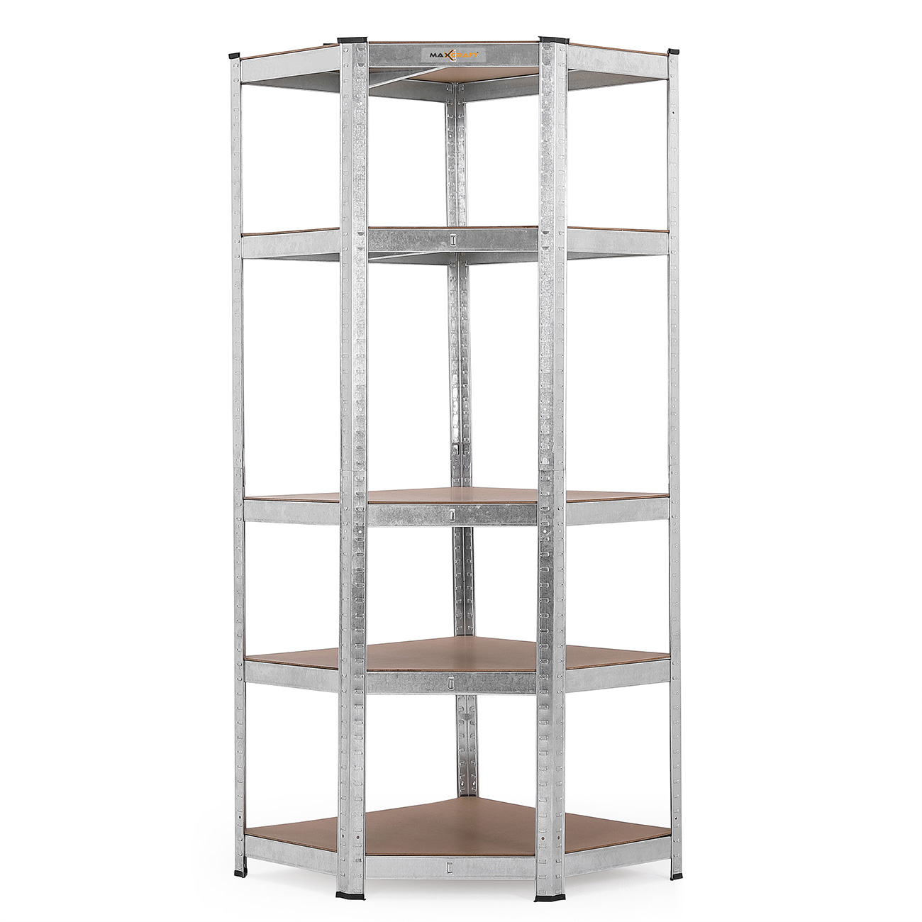 Etagere Englisch Maxcraft Heavy Duty 5 Tier Corner Shelving Unit 875 Kg Silver Ma Trading