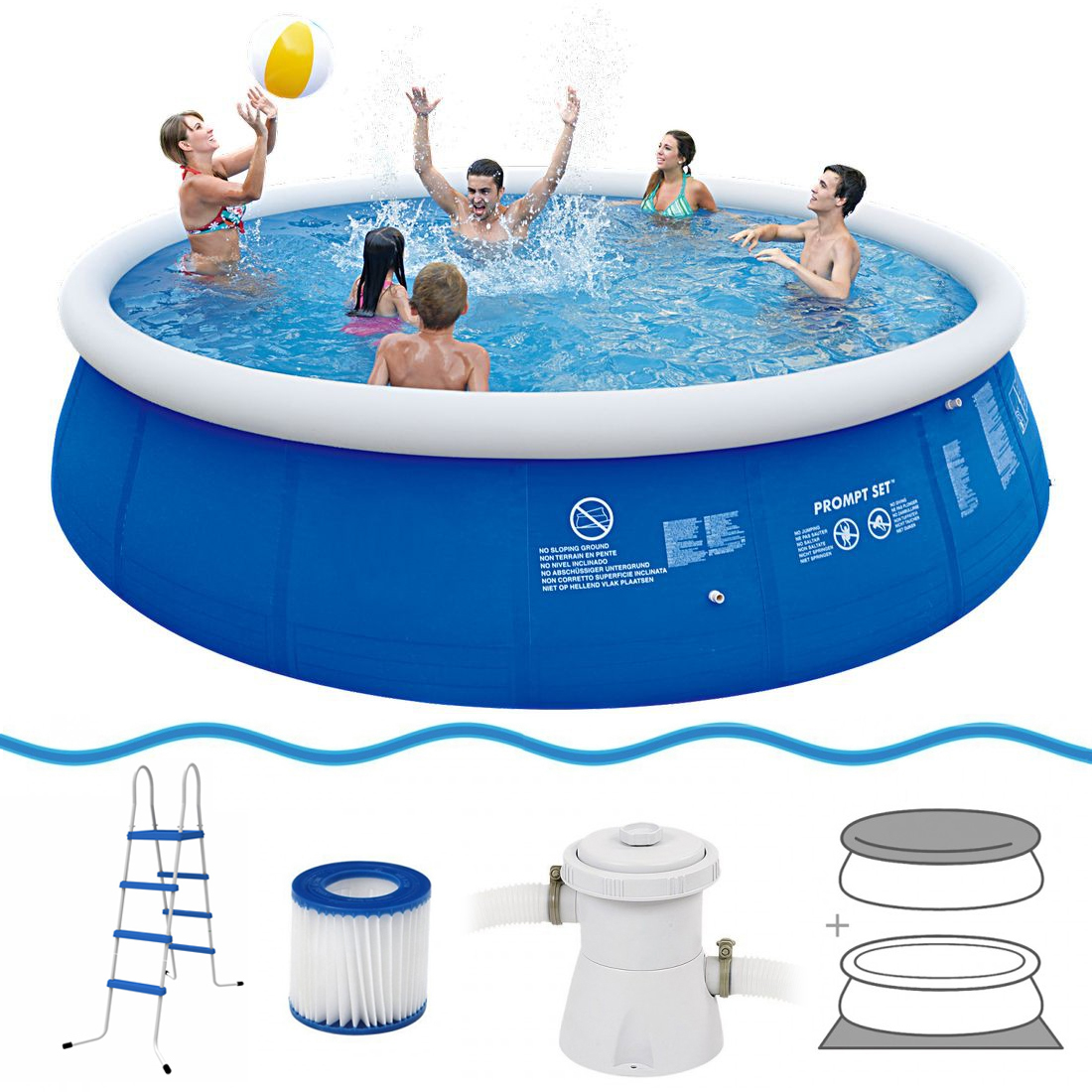 Quick Pool Abdeckplane Jilong Marin Blue 540 Set Quick Up Pool Set 540x122cm Mit Filterpumpe Und Kartusche Leiter Boden Und Abdeckplane Wassersport Pools Pools