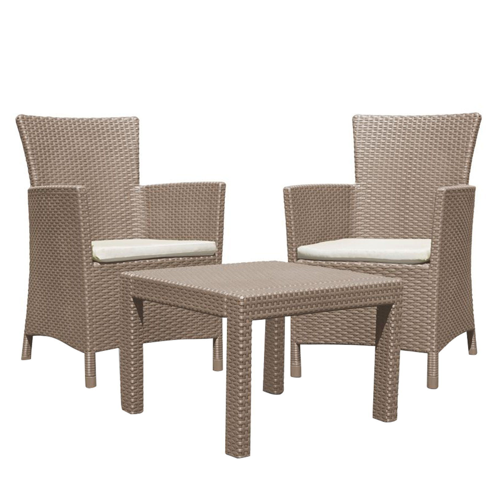 Loungemobel Rattan Amazon Beige Optik 3tlg Lounge Sitzgruppe