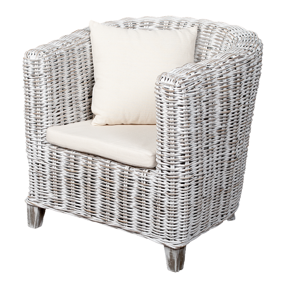 Sessel Rattan Rattan Sessel Circle White Wash
