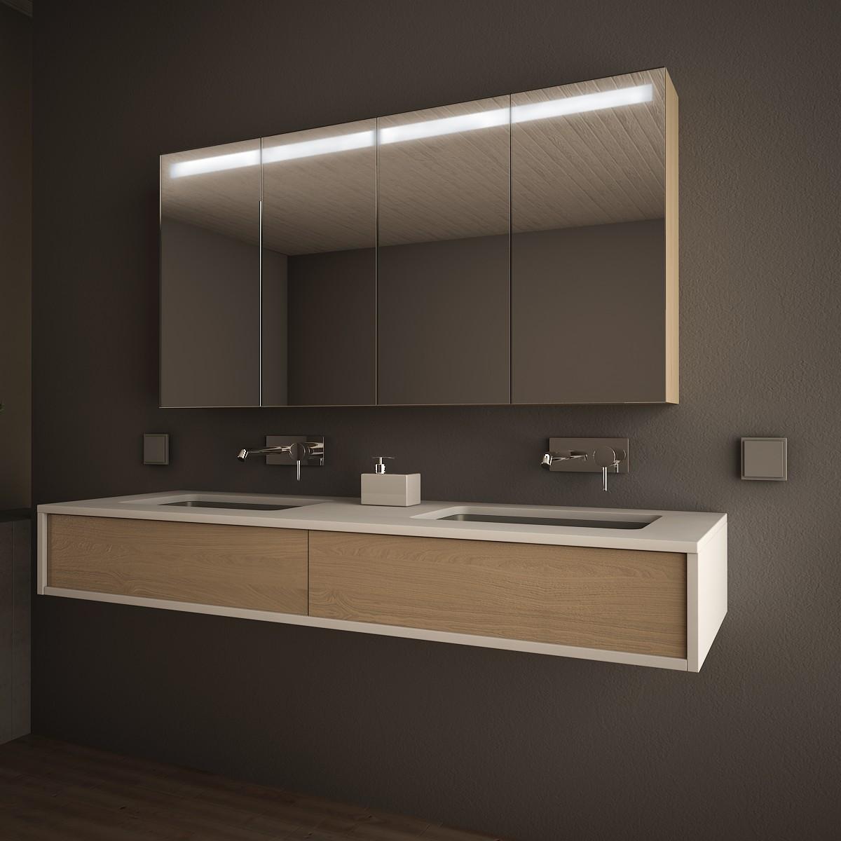 Bad Spiegelschrank Rund Handtuchhalterung Luxurias Design Spiegel