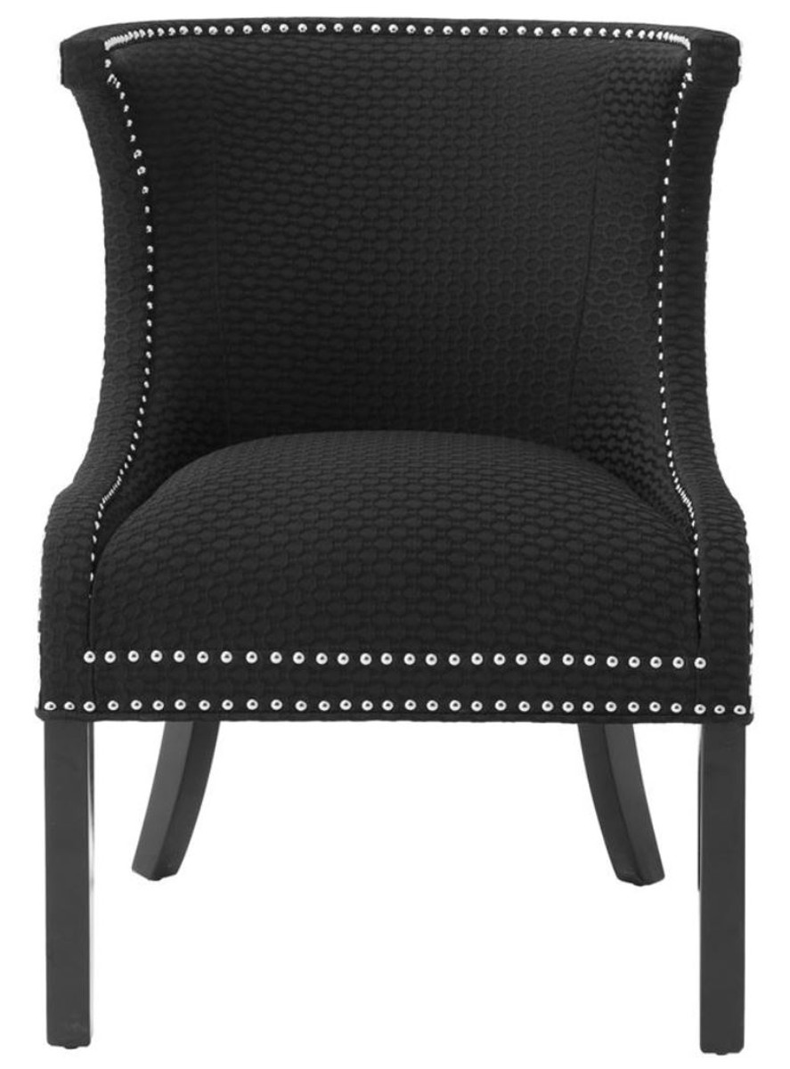 Sessel Ohrensessel Casa Padrino Luxus Sessel Ohrensessel Schwarz 66 X 60 X H 91 Cm Limited Edition