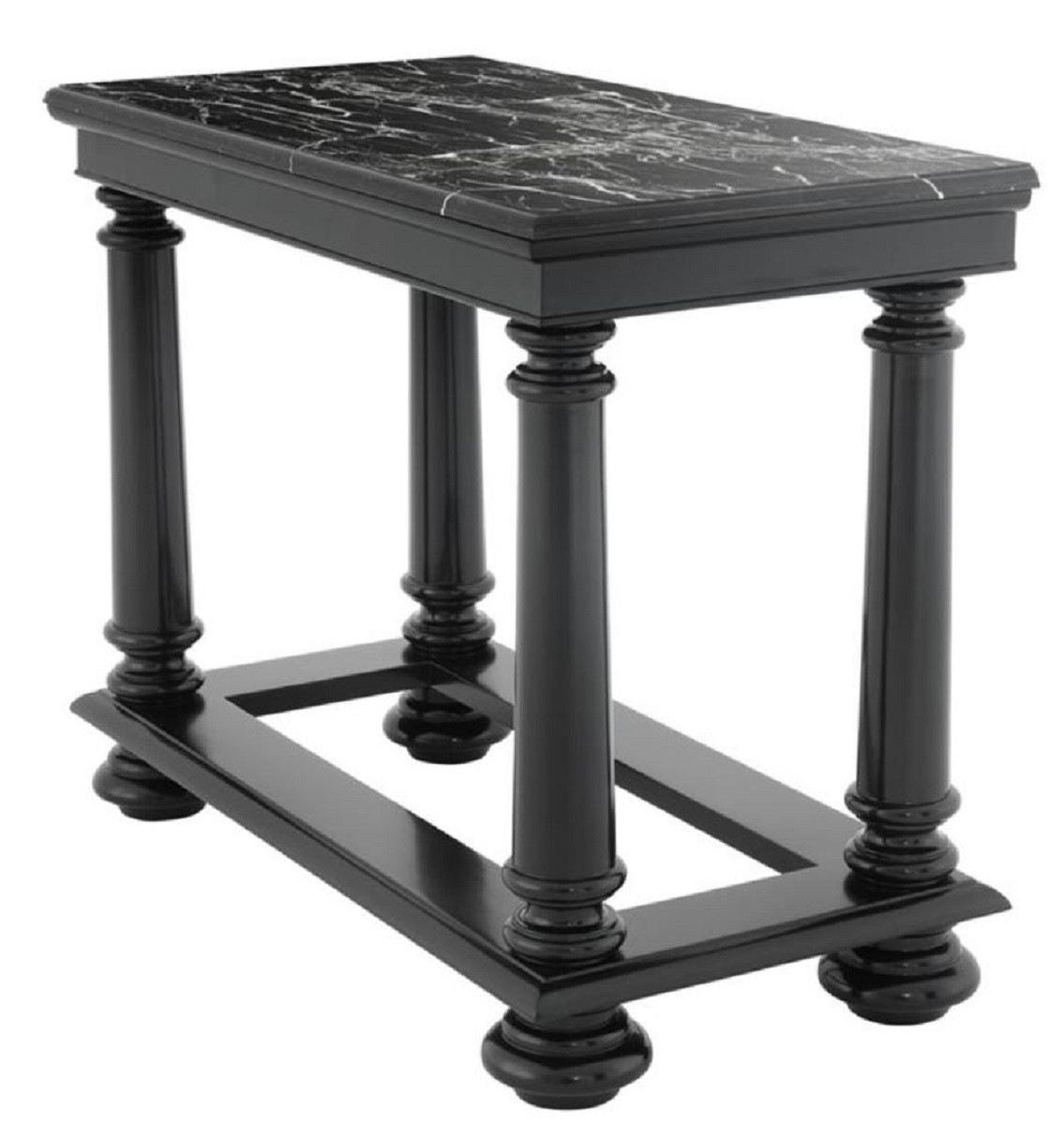 Konsolentisch Schwarz Casa Padrino Luxury Console Table In Black With Black Marble Top