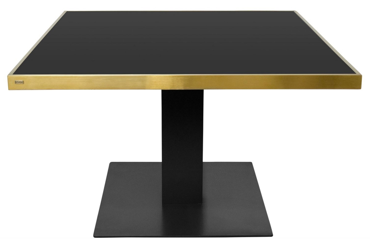 Designer Tisch Casa Padrino Designer Dining Table Black Gold 120 X 120 X H 76 Cm Luxury Dining Room Furniture