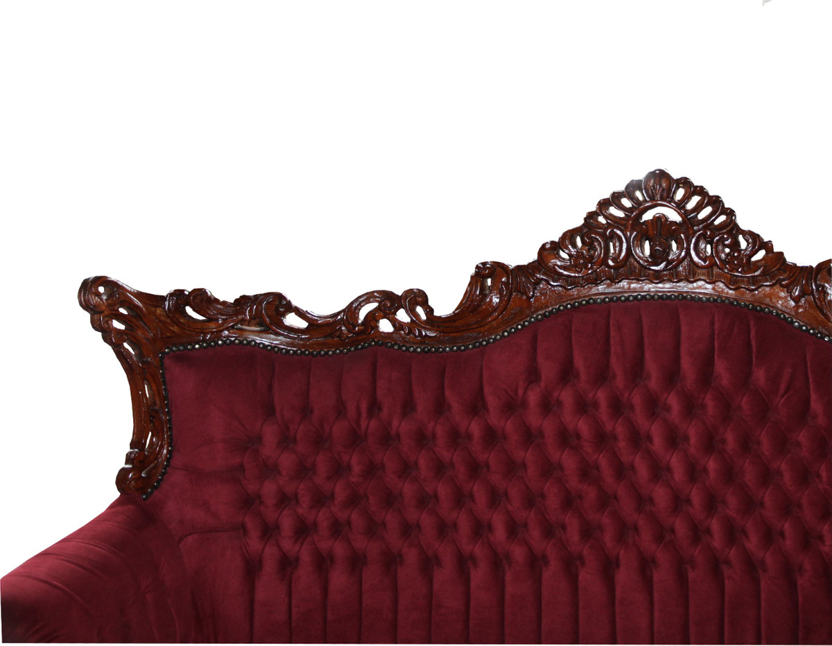Wohnzimmer Farbe Bordeaux Casa Padrino Barock 3 Er Sofa Master In Bordeaux Braun