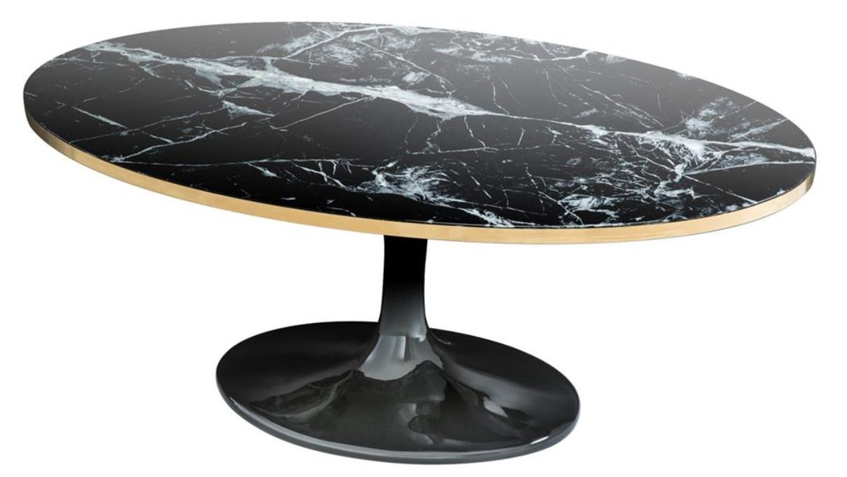 Couchtische Oval Casa Padrino Luxury Coffee Table Oval Black Brass Colors 120 X 60 X H 50 5 Cm Luxury Coffee Table