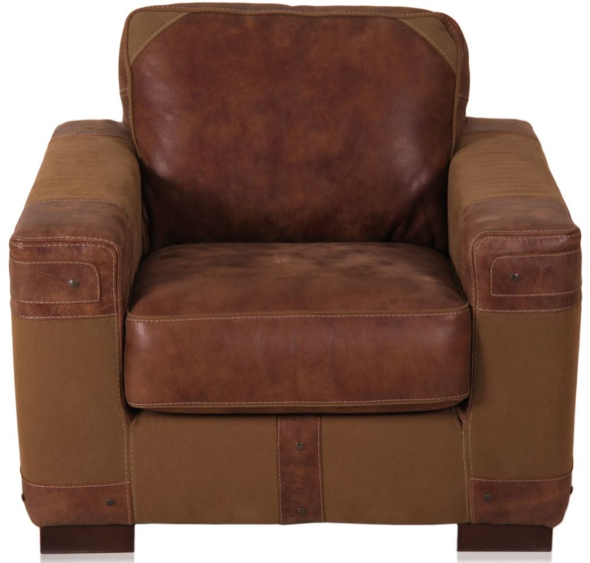 Casa Padrino Luxury Real Leather Armchair Brown 92 X H 93 Cm Chesterfield Furniture