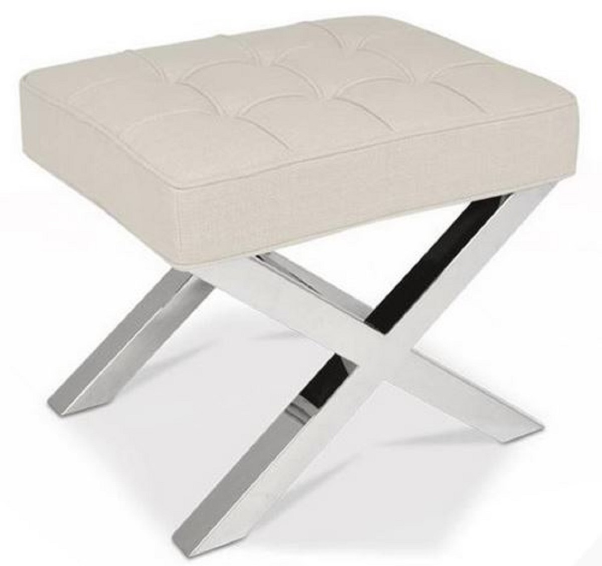 Hocker Silber Luxus Hocker