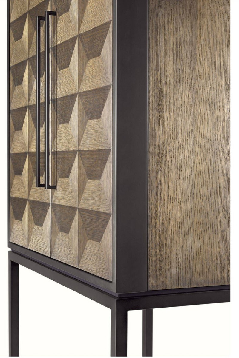 Casa Padrino Bar Weinschrank Casa Padrino Luxury Wine Cabinet With 2 Doors Brown Dark Brown Black 95 X 58 X H 168 5 Cm Bar Furniture Luxury Quality
