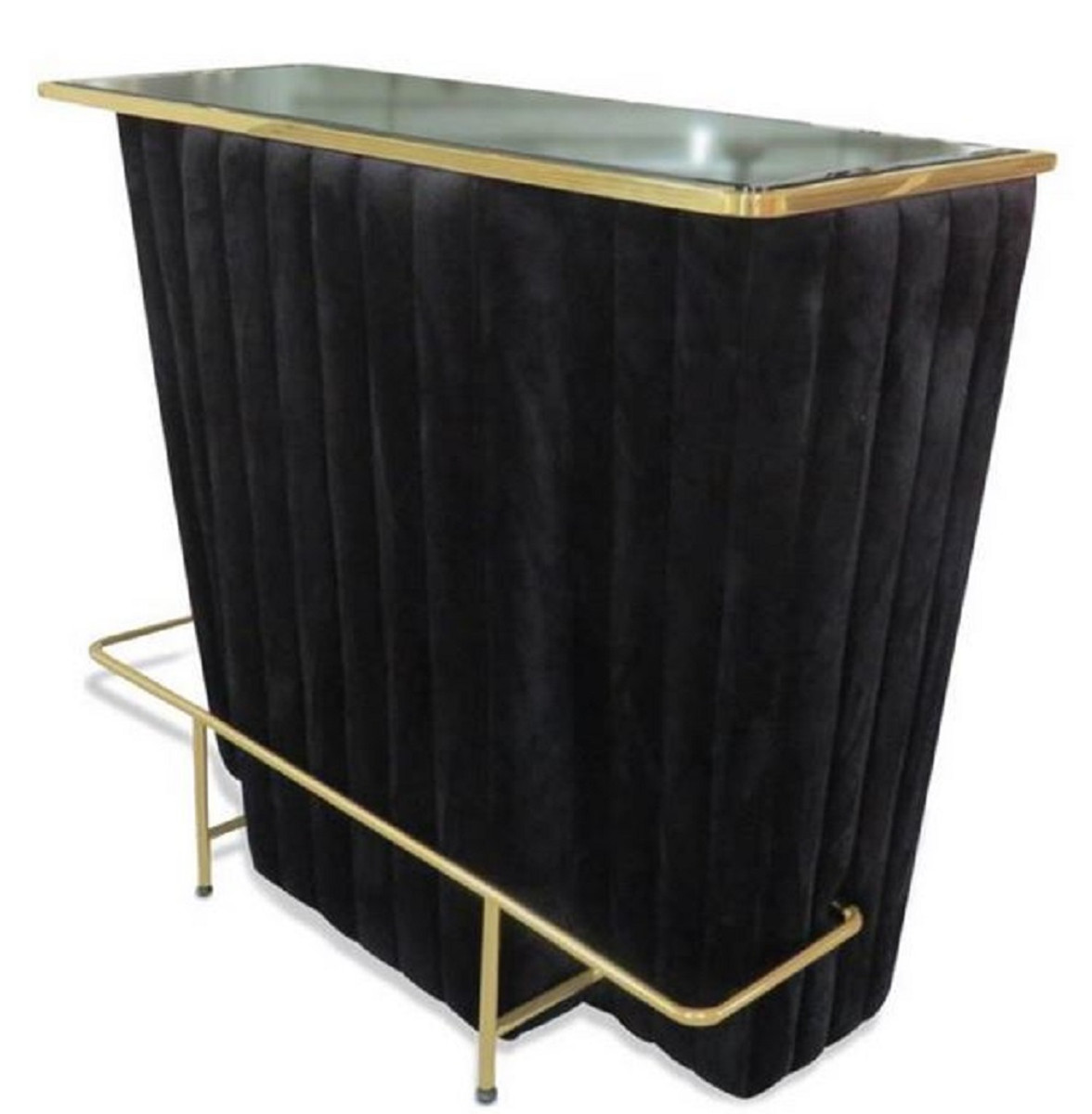 Casa Padrino Bar Weinschrank Casa Padrino Luxury Bar Counter Black Gold 120 X 48 X H