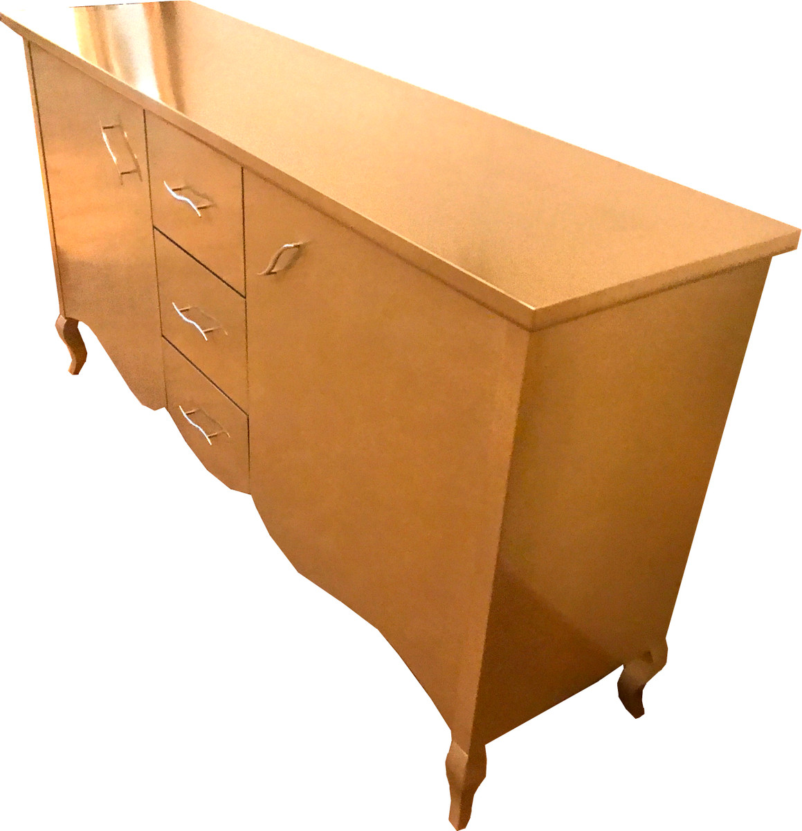 Casa Padrino Baroque Chest Of Drawers With 2 Doors And 3 Drawers Gold 160 X 45 X H 87 Cm Modern Baroque Sideboard Baroque Living Room Furniture