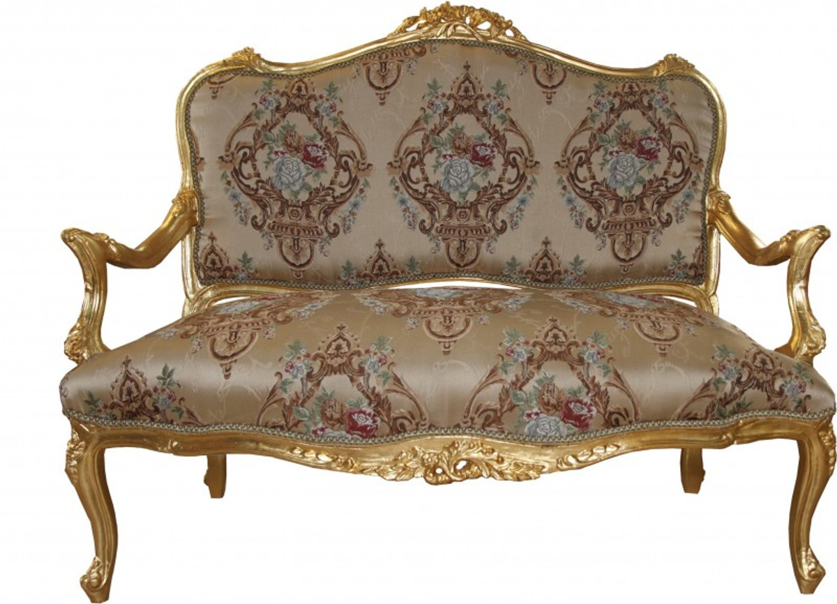 Casa Padrino Baroque Sofa Cream Pattern Gold Italian Style Baroque Furniture Sumptuous And Extraordinary