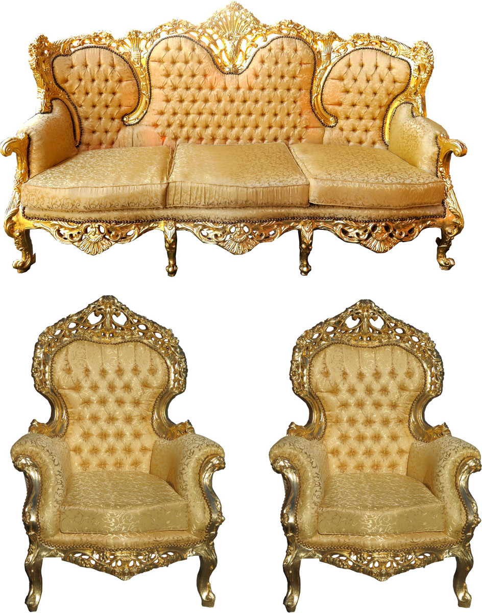 3er Couch Casa Padrino Baroque Sofa Couch And Living Room Sets