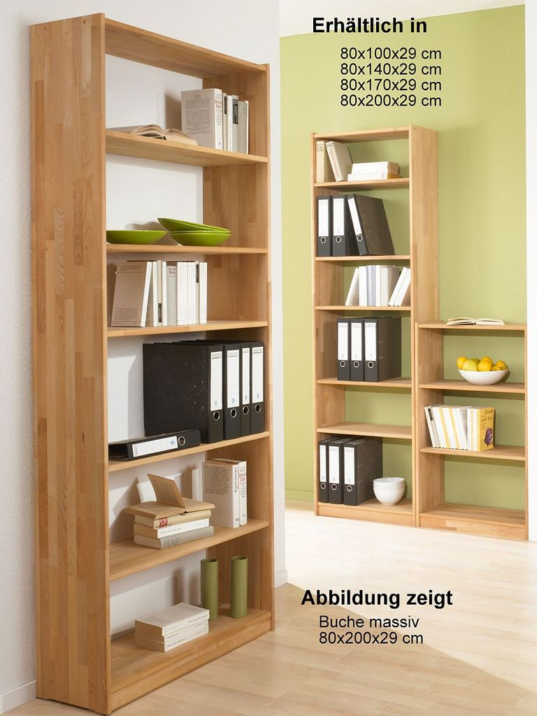 Bücherregal Buche Massiv Standregal Buche Natur Geölt