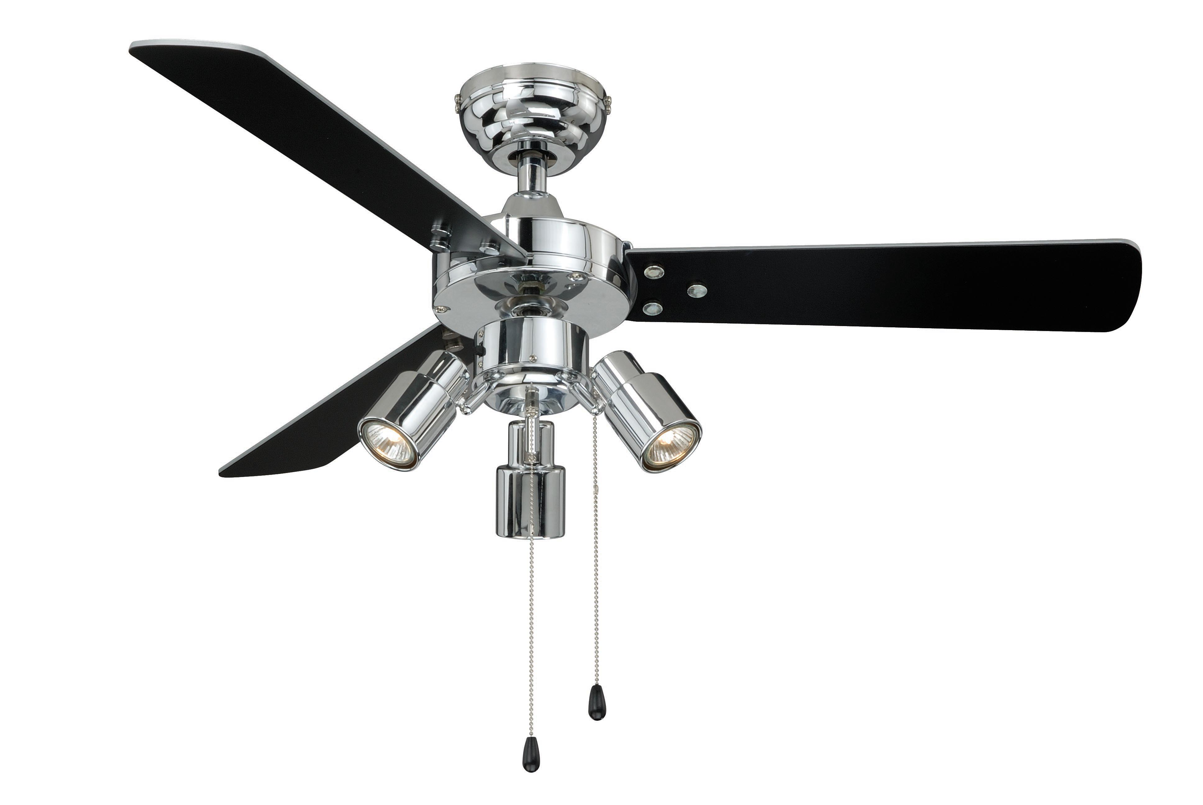 Chrome Ceiling Fans Without Lights Ceiling Fan Cyrus Chrome Without Lights 107cm 42