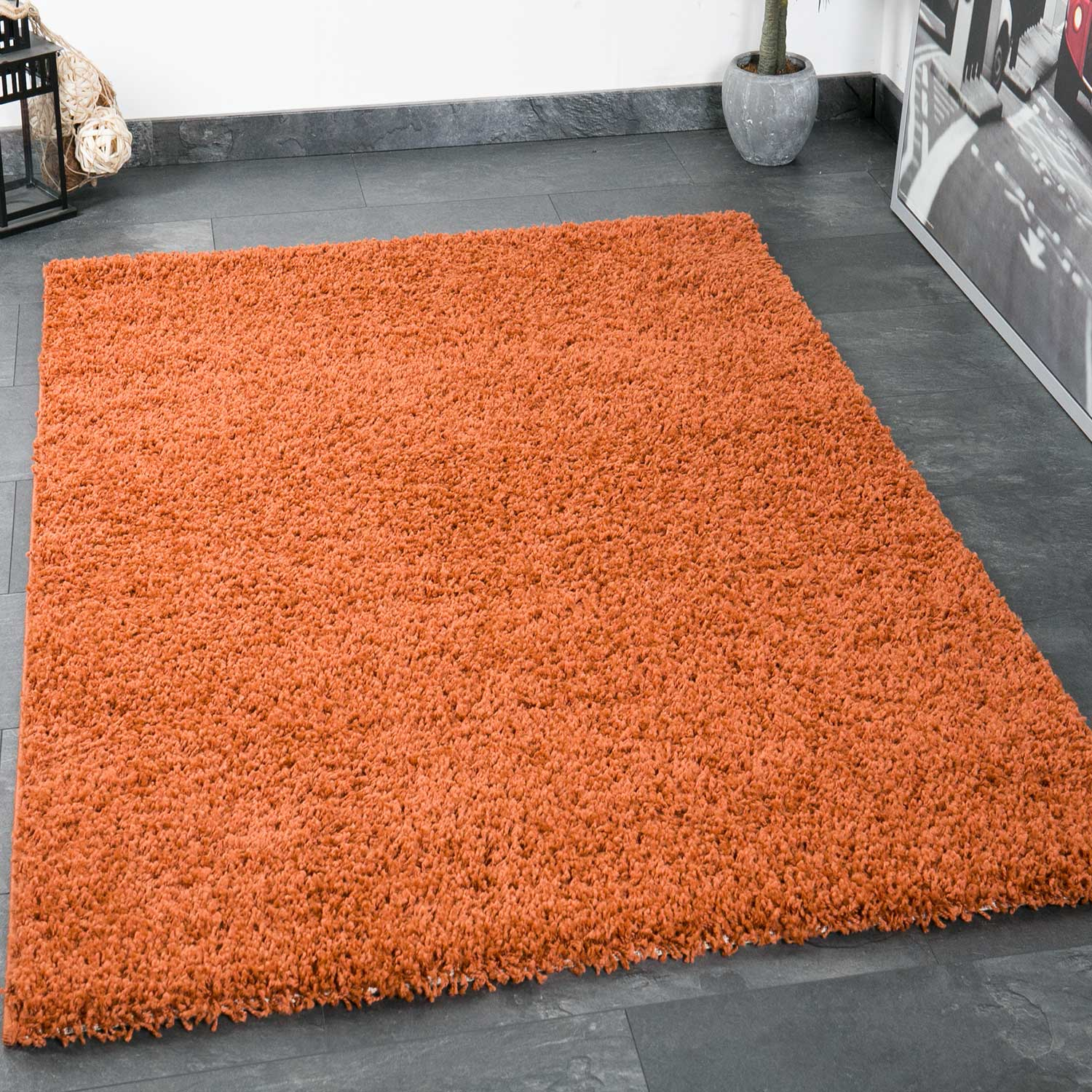 Living Hochflor Teppich Shaggy Prime Shaggy Rug High Pile Rug Carpet Livingroom Bedroom Rug Trendy Rugs And Carpets Copper Pe1000