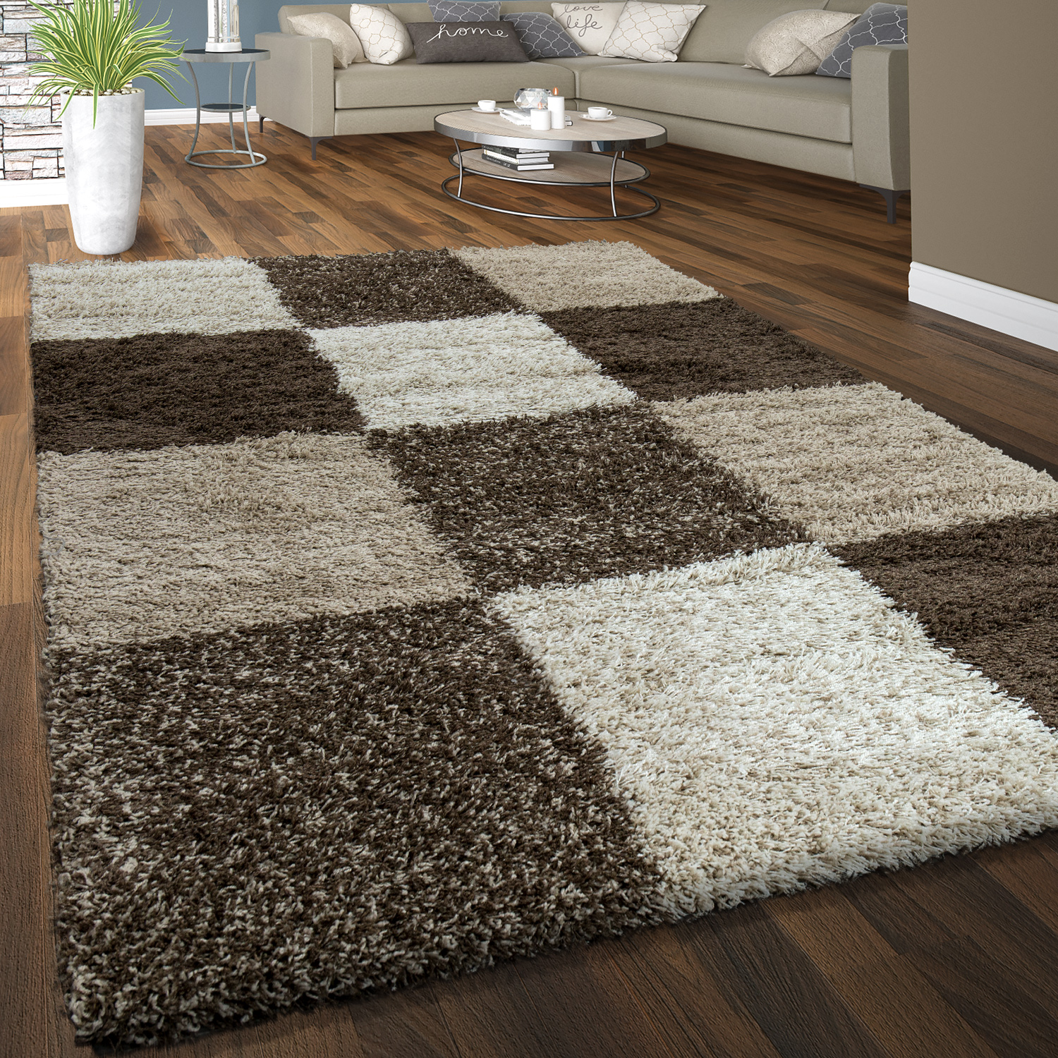 Teppich Adum Teppich Shaggy Beige Trendy Hover To Zoom With Teppich Shaggy