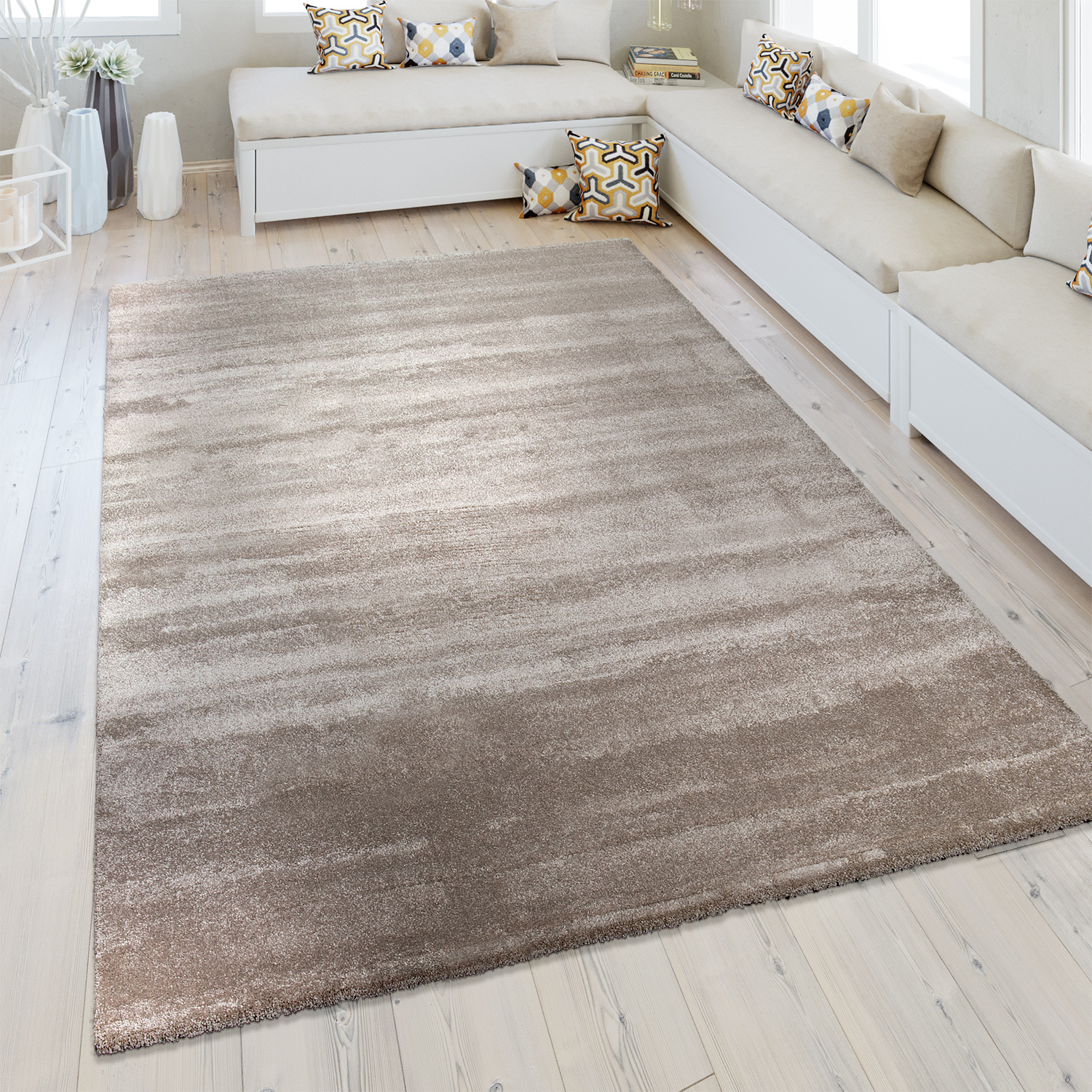 Backing Tapijt Short Pile Rug One Colour Beige