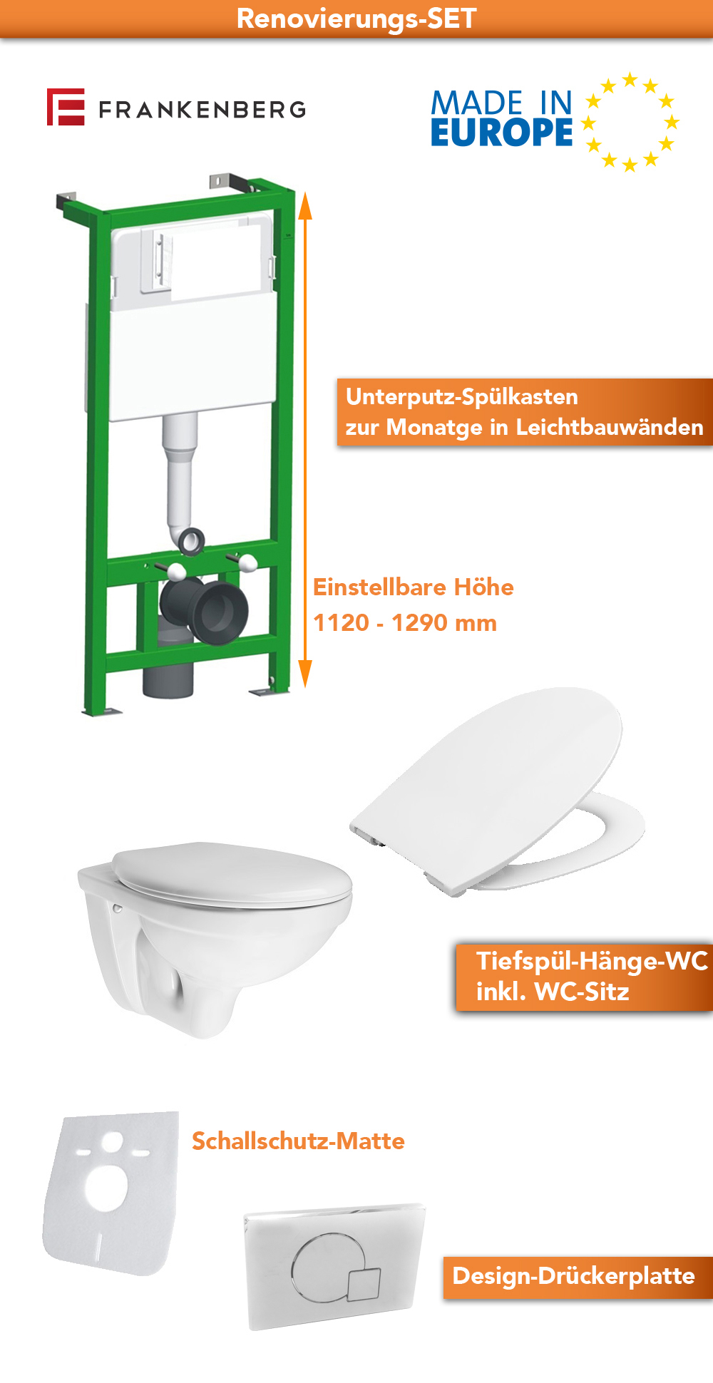 Wand Wc Komplett Set Keramik Komplett Set Wand Wc