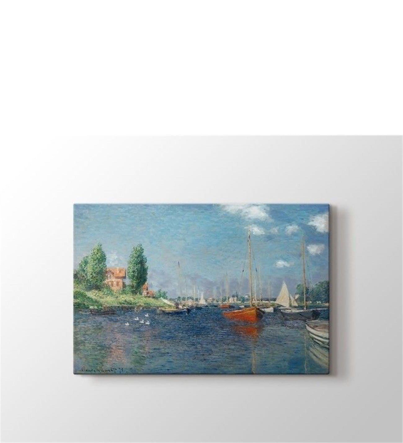 Photo Argenteuil Claude Monet Red Boats At Argenteuil Tablo 5004 Çiçeksepeti