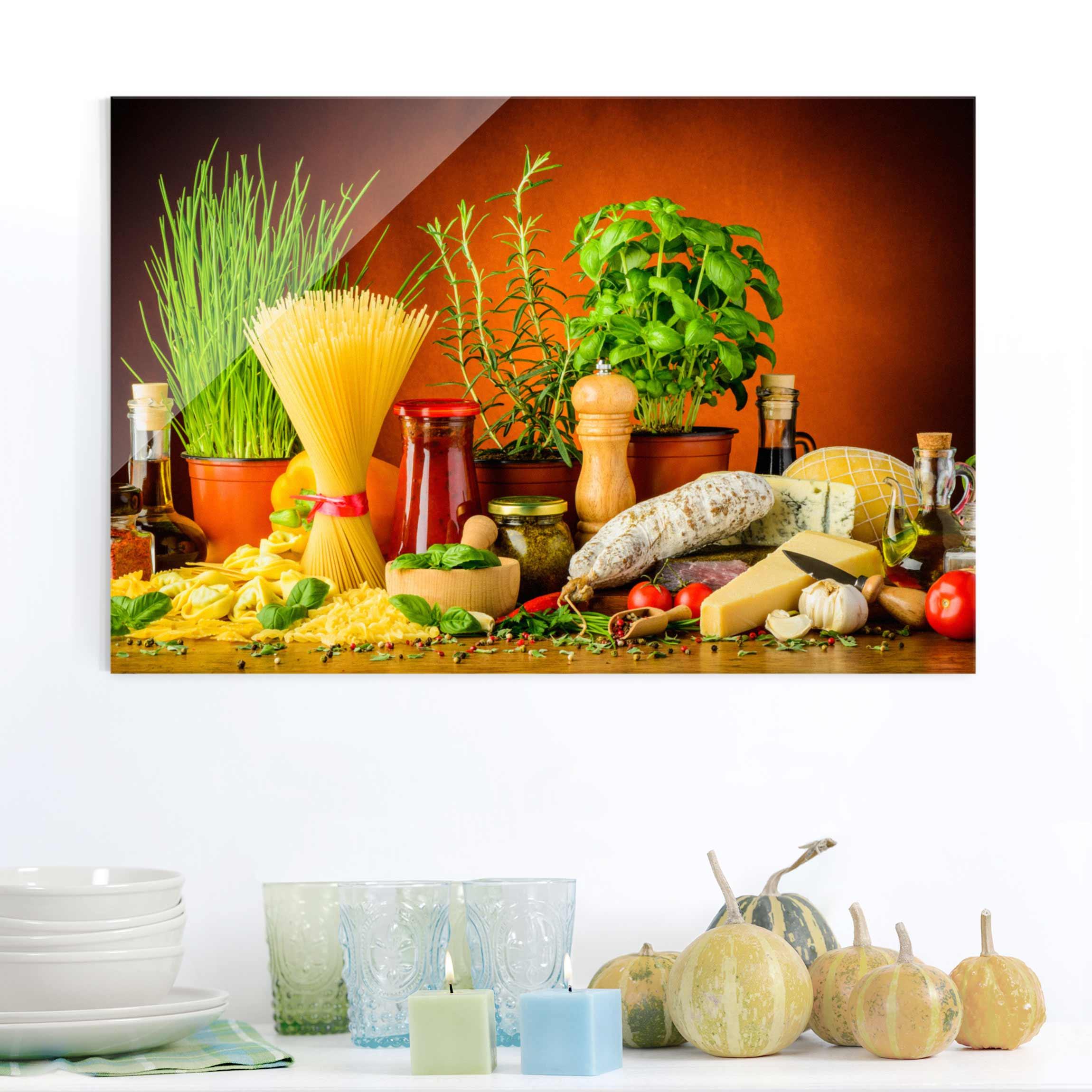 Glasbild Küche | Glasbild Lovely Lavender I Shophit Serie 15x15cm ...