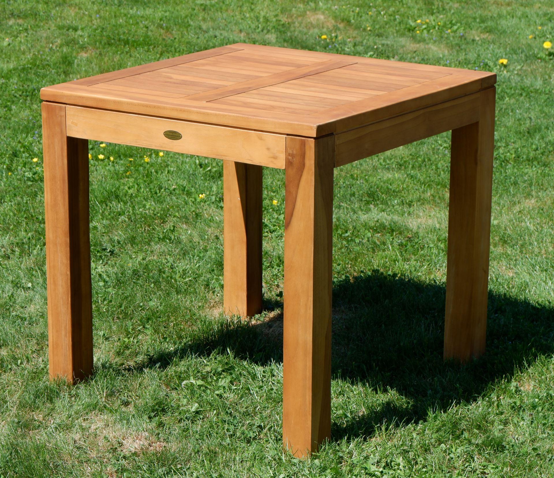 Gartentisch Holz 80x80 Divero Holztisch Gartentisch Teakholz 80 X